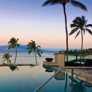 The infinity pool at the Four Seasons Resort Maui