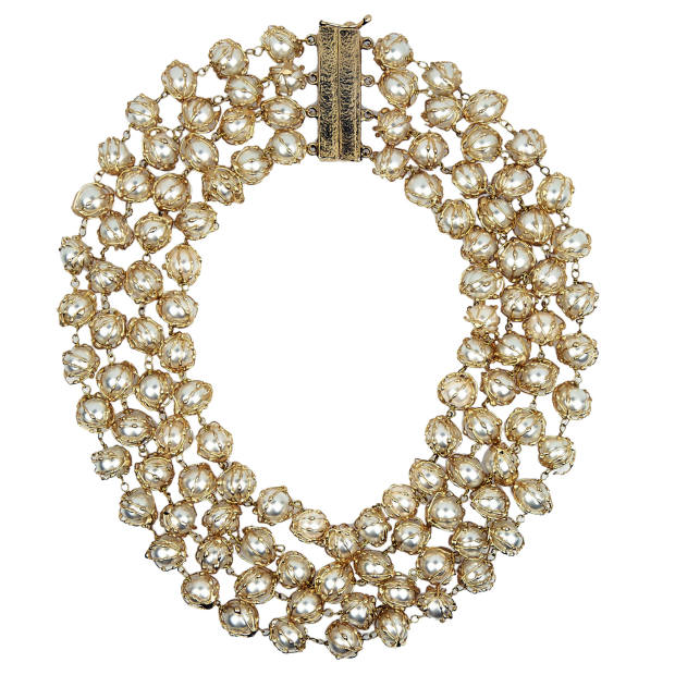 Rosantica gold-dipped freshwater pearl necklace, £670
