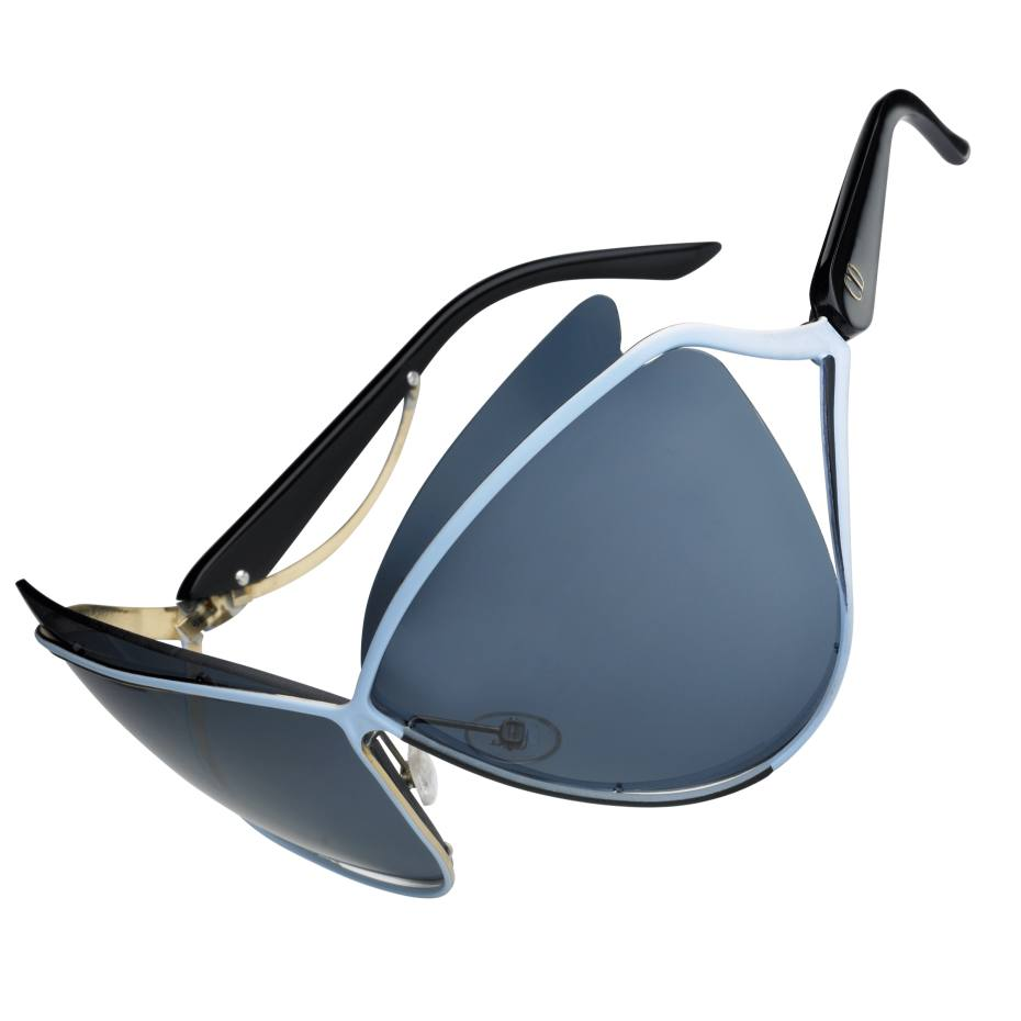 Dior sunglasses with lacquered metal frames, £310. Also in other colours