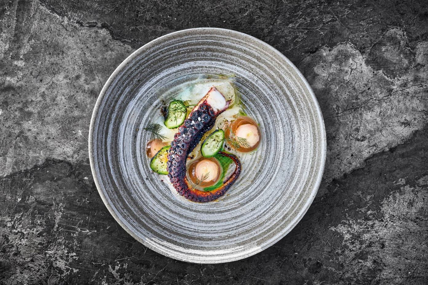 Roast octopus is on the menu at 108 Garage