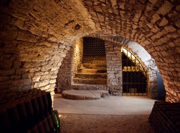 Drappier's 12th-century Cistercian cellars