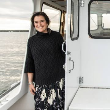 Nadia Rosenthal commutes to work by boat