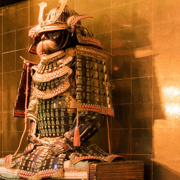 A collection of antique Samurai warriors will watch over guests