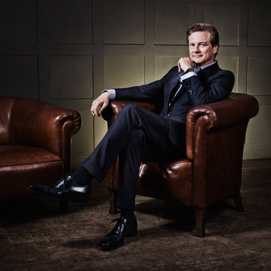 Colin Firth photographed at High Road House, Chisick
