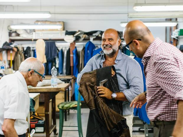 Enzo and Roberto at the Ciardi atelier
