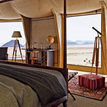 Sonop tented camp provides mesmerising views over the Namib Desert
