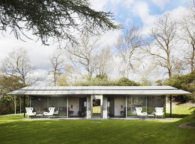 Ewan Cameron Architects' guest pavilion at Capel Manor House in Kent