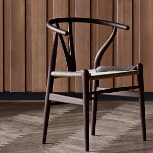 The classic CH24 Wishbone Chair is given a new twist with this American Oak finish