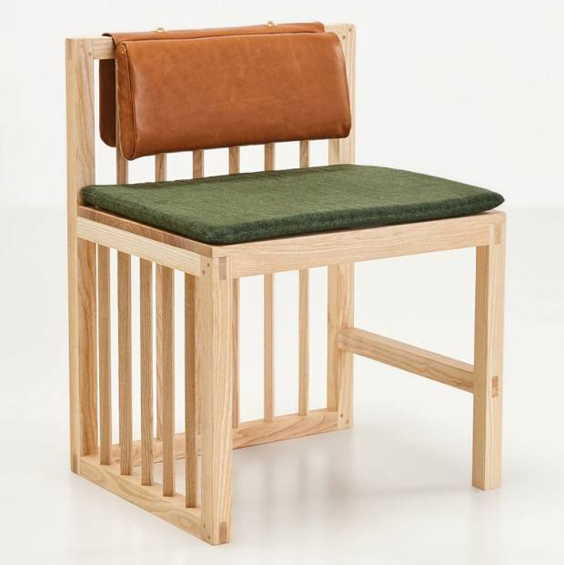 Ash, leather and upholstery Peninsula chair, £780