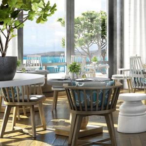 The Great House, one of three restaurants at Park Hyatt St Kitts, Christophe Harbour