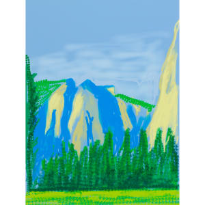 Untitled No 2 from The Yosemite Suite, 2010, iPad drawing printed on paper