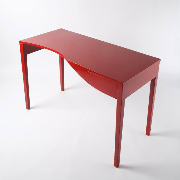 Nest Design timber and high-gloss-lacquer Red Writing Desk, about £7,846