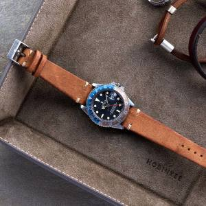 Hodinkee rustic brown leather strap, $149
