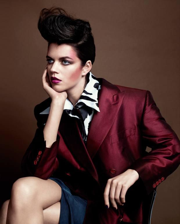 Vivienne Westwood Gold Label silk/cotton Jenna jacket and silk Iman skirt, both price on request. Aganovich silk shirt, about £377