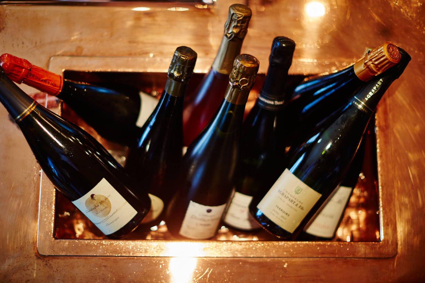 A selection of Bubble Shop champagnes and sparkling wines, available for delivery