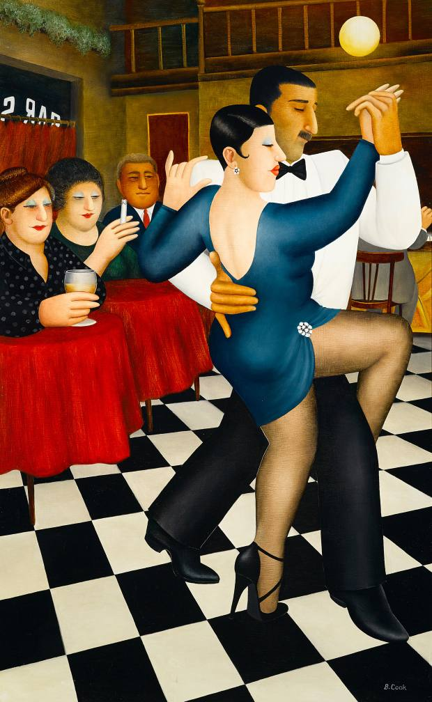 Tango In Bar Sur by Beryl Cook, $18,000-$22,000