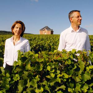The AR Lenoble vineyard in Chouilly with its owners Anne and Antoine Malassagne