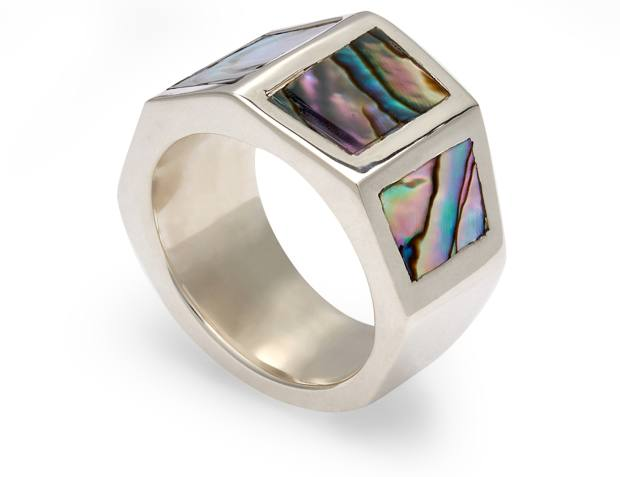 Duffy silver and abalone ring, £985, doverstreetmarket.com