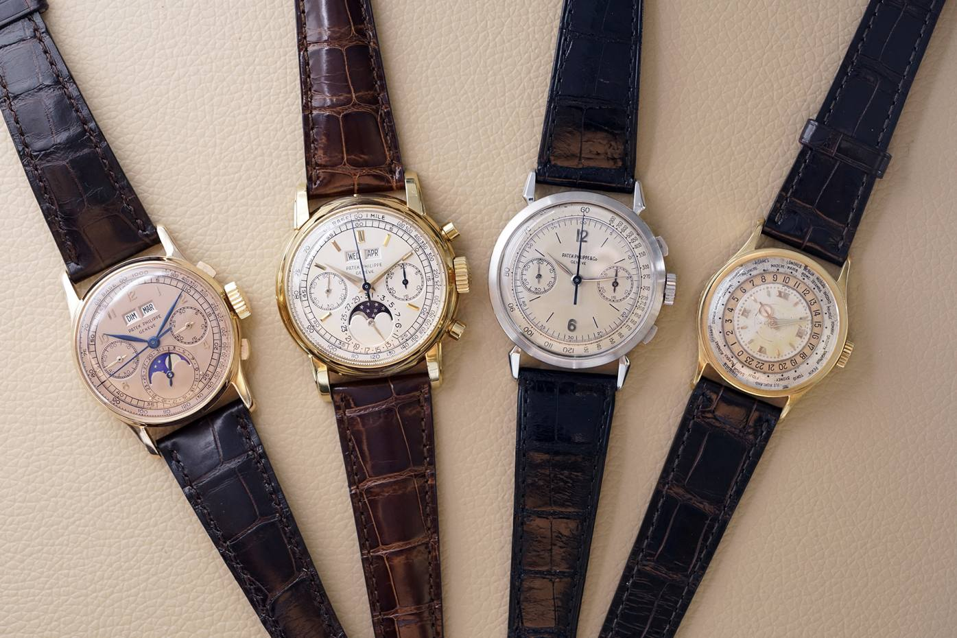 Some of Jean-Claude Biver's Patek Philippes, including references 1518, 2499, 1579 and 96HU, will be featured in the exhibition