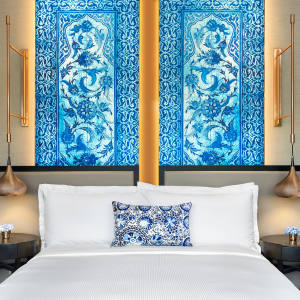 Anatolian ceramic headboard
