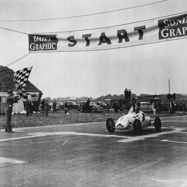 Stirling Moss's first race at Goodwood in 1948