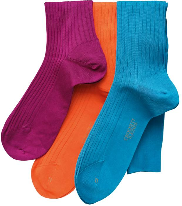 Morillas' colourful socks from Gammarelli in Rome, €20