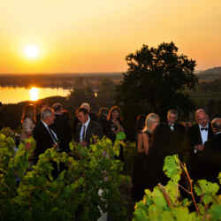 Members of Le Grand Société at the Domaine de Bellevue's Harvest Dinner