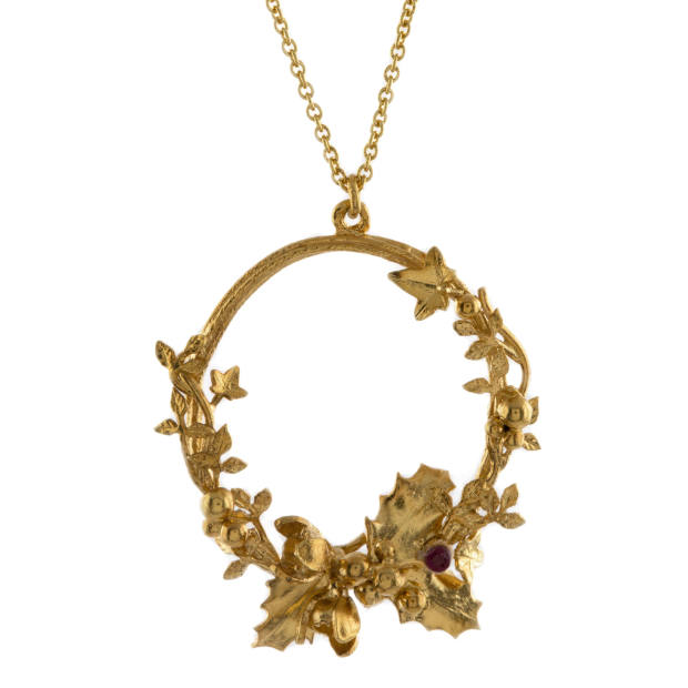 Holly and ivy wreath pendant, day nine, £195