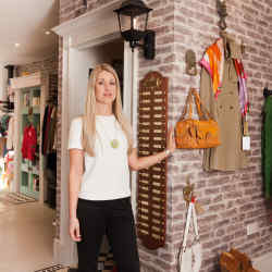 Shop manager Rosanna Dodson at Mary's Living & Giving Shop, London