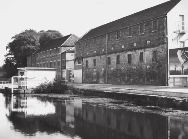 The former Rosebank distillery Falkirk in 1980