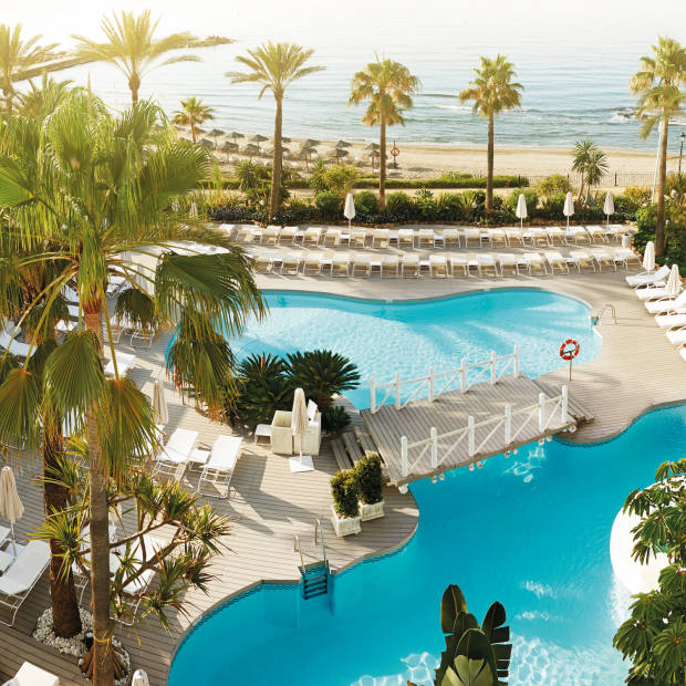 Guests have a choice of three swimming pools at the beach club