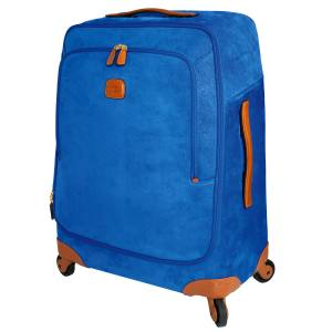 Brics Life trolley suitcase (407cm x 68cm x 29cm) in coated cotton with leather trim, £520. Also in other colours