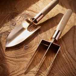 Grafa bronze trowel and fork, £45 each