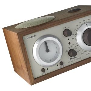Tivoli Audio Model Three Bluetooth-equipped clock radio with wood-veneer cabinet, £249. Also in other colours