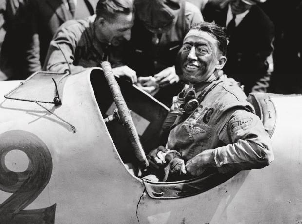 American Jimmy Murphy after his dramatic victory in the 1921 French Grand Prix