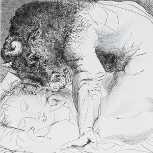 Minotaur Caressing a Sleeping Woman, 1933, by Pablo Picasso, estimate €1.2m