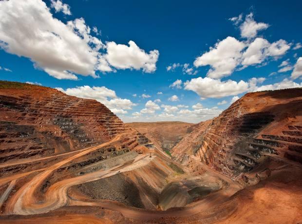 The Argyle Diamond Mine in Western Australia, which produces pink diamonds