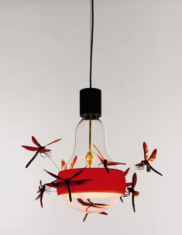 Glass and 3D-printed plastic JB Dragonfly hanging light by Ingo Maurer, sold at Sotheby's in November for £56,250