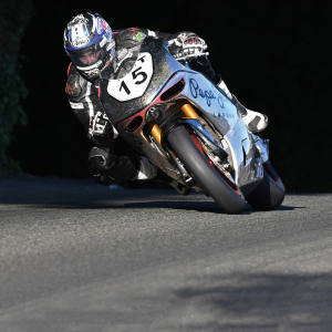 """David """"Davo"""" Johnson on a Norton prototype SG6 during practice at TT 2016, where he became the fastest-ever rider of a British motorcycle at TT"""