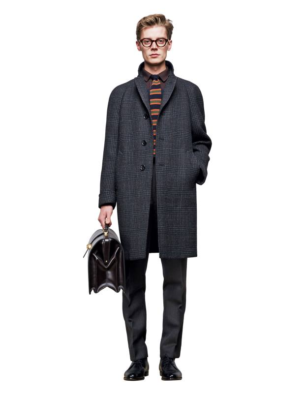 Dunhill wool-mix tweed coat, £2,190