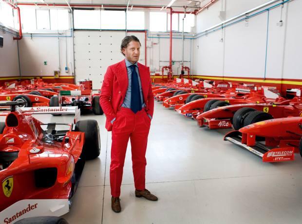 """Elkann in """"Le Classiche"""", where classic Ferraris are maintained."""