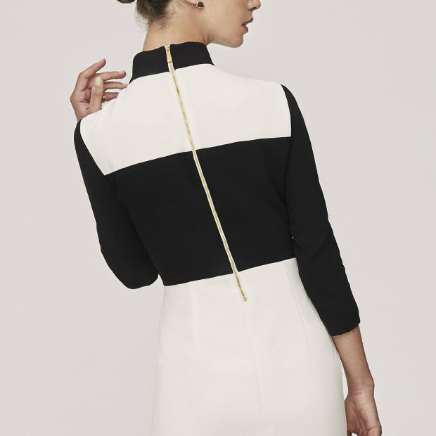 Flair Atelier No 200 dress with zip detail and turtle-neck top, from £330