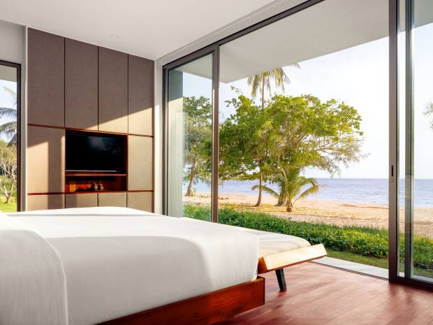 The varied accommodations at Alila Villas Koh Russey offer access to a 1.2km-long sandy beach