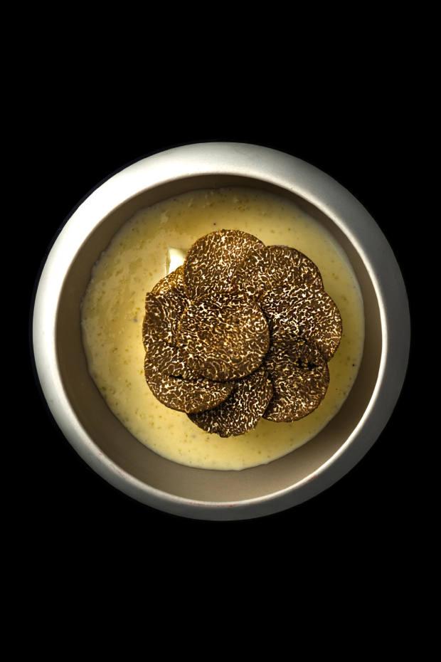 Winter black truffles from Alba often feature on Rigo's menu