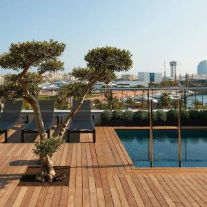 The rooftop pool at The Serras hotel, Barcelona