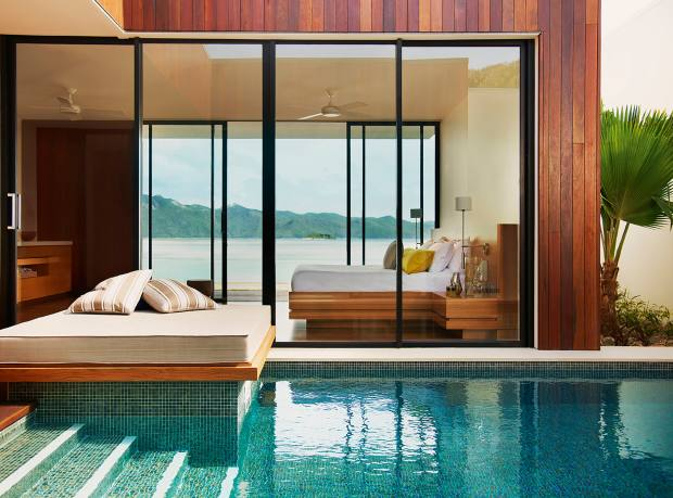 A beach villa with pool at One&Only Hayman Island resort