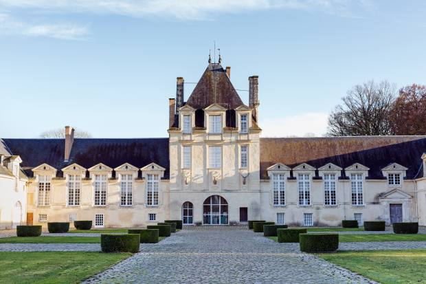 Manoir de Jonchet's façade features stags' heads, from a design Givenchy commissioned for Versailles