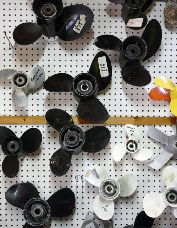 A selection of new and second-hand boat propellers, from £10