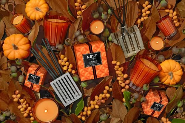 Nest Fragrances Pumpkin Chai diffuser, $48, and candle,$42