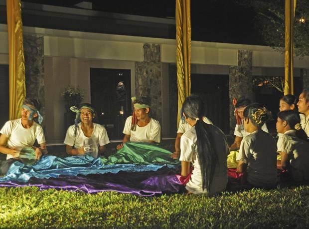 A Landmine Survivors Cambodia contemporary theatre performance at Amansara